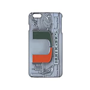 Angl 3D Case Cover Miami Hurricanes Logos Phone Case for iPhone6