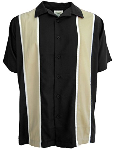 - Good Life Mens Relaxed Fit Camp Shirt Casual Button Down Wrinkle Resistant (Black, 2X)