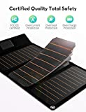 RAVPower Solar Charger 21W Solar Panel with Dual
