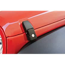 Rampage Products 76336 Black Locking Hood Catch Kit (for Jeep Wrangler JK (pair))