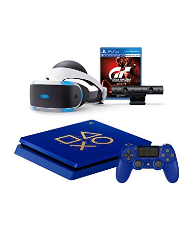 PlayStation 4 Days of Play Limited Edition 1TB Console and PSVR Gran Turismo Sport Bundle