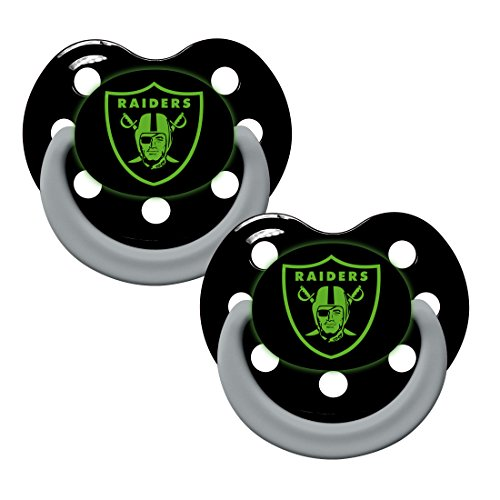 Oakland Raiders 2 Pack Baby Pacifier