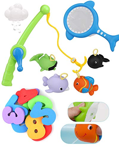 STEAM Life Baby Shark Bath Fishing Game | Educational Bathtub Toy & Fishing Game with Toy Fishing Pole, Baby Shark Net, Fish Toys, and Foam Numbers for Tub and Pool, Toddlers Both Boys and Girls (Best Cheap Steam Games)