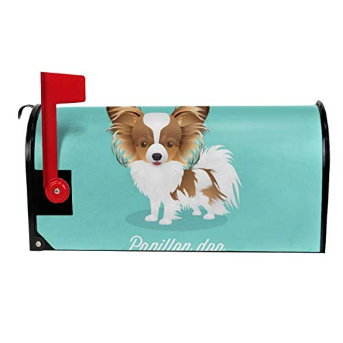 QPKML Cute Papillon Dog Meets US Postal Requirements Magnetic Mailbox Cover - 21