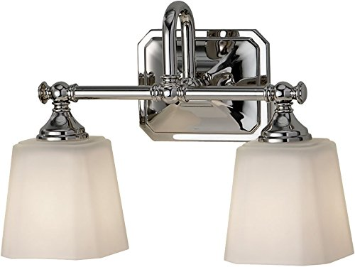 Feiss VS19702-PN Concord Glass Wall Vanity Bath Lighting, Chrome, 2-Light (14