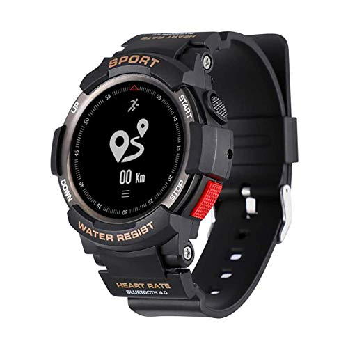 - DYR Bluetooth Function Smart Watch IP68 Water Resistant Heart Rate Monitor Calorie Consumption SleepMonitor Electronic Stopwatch,Black