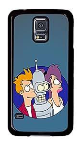 Samsung Galaxy S5 Case, Galaxy S5 Case - Scratch-Resistant Black Hard Case for Samsung Galaxy S5 Futurama Fry Bender And Leela Slim Fit Hard Back Case for Samsung Galaxy S5
