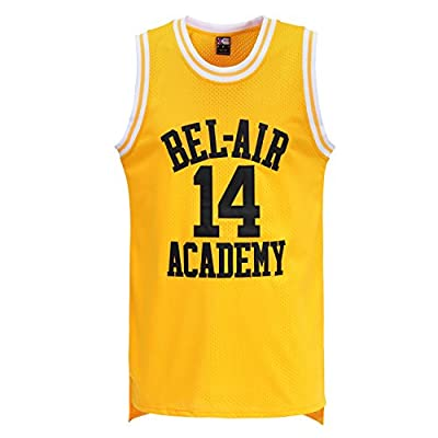 MOLPE Smith #14 Bel Air Academy Yellow Basketball Jersey S-XXXL