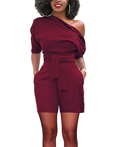 Women's One Shoulder Romper