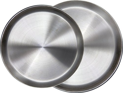 Immokaz Matte Polished 12.0 inch 304 Stainless Steel Round Plates Dish, for Dinner Plate, Camping Outdoor Plate, BPA Free (1-Pack) (L (12.0'')) by Immokaz (Image #7)