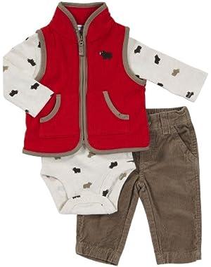Carter's Baby Boys 3-pc Vest Set