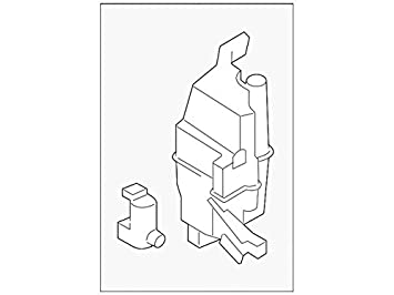 2014 - 2016 Nissan Rogue tanque de depósito de líquido limpiaparabrisas botella OEM nueva: Amazon.es: Coche y moto
