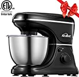 Kealive Stand Mixer 8 Speeds Tilt-Head Dough Mixer with 5-Qt Stainless Steel Bowl, 700W Kitchen Food Mixer with Dough Hook, Wire Whip, Flat Beater and Pouring Shield, ETL listed
