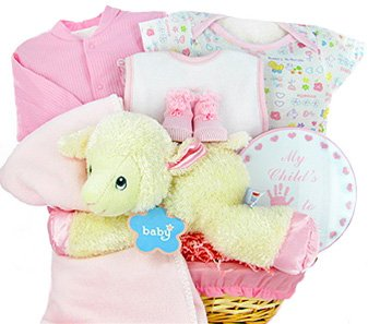 Shopper Thoughtful (Lamby Nap Time Gift Basket-girl)