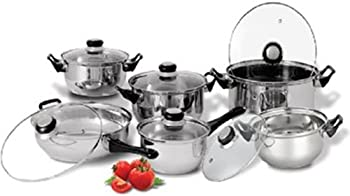 Diamond Home 12 Piece Stainless Steel Cookware Set