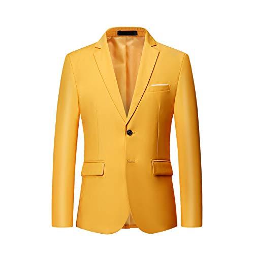 Colores Pecho Fit Slim Chaqueta Casual 10 Hombre Mogu Solo Amarillo qzTI5