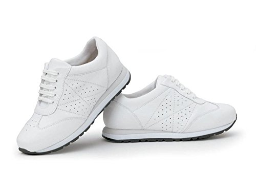 Zapatillas CALZAMEDI Deportiva Blanca Comoda Y Ancha Mujer Blanco - 41: Amazon.es: Zapatos y complementos