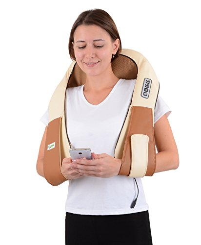 Shiatsu Cordless Massager. Best price on Amazon for Pain relief, total Body Relax and therapy of Shoulders, Neck, Back and foot. Hands Free, 8 Balls Kneading Massage .Your New Massage Therapist!.