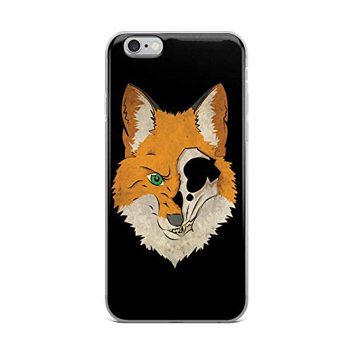iPhone 6 Plus/6s Plus Case Anti-Scratch Creature Animal Transparent Cases Cover My Fox Logo for Sanity is Questionable Animals Fauna Crystal Clear