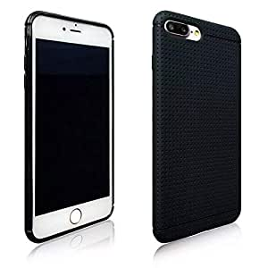 Amzer iphone 8 plus slim honeycomb case - Black