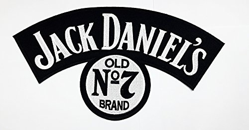XXL BIG Jack Daniels Whiskey Drink Band No 7 Music Band Heavy Metal Punk Rock symbol rockers jacket vest large Embroidered Iron on Hat Hoodie Backpack Ideal for Birthday Gift (Jack Daniels Costume Diy)