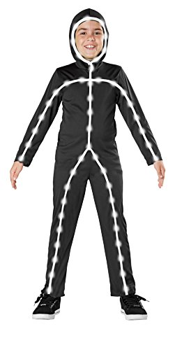 Light Up Body Suit (Seasons Light Up Stick Man Costume, Small)