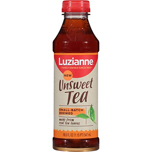 Luzianne Ready To Drink Unsweet Tea, 18.5 oz. (Pack of 12) (Best Tea To Drink)