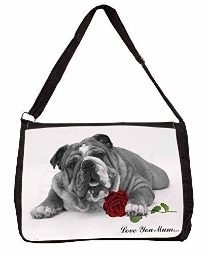 Bulldog (B+W) Love You Mum Large 16 Black School Laptop Shoulder Bag 7qT6g
