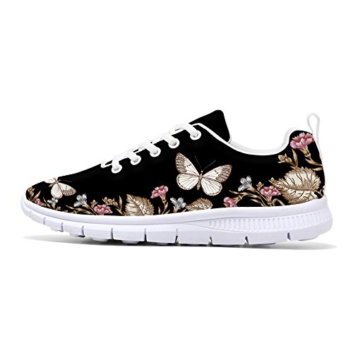 FIRST DANCE 2018 Fashion Flower Design Womens Running Shoes Lightweight Walking Floral Printed Sneakers style2 9US by FIRST DANCE