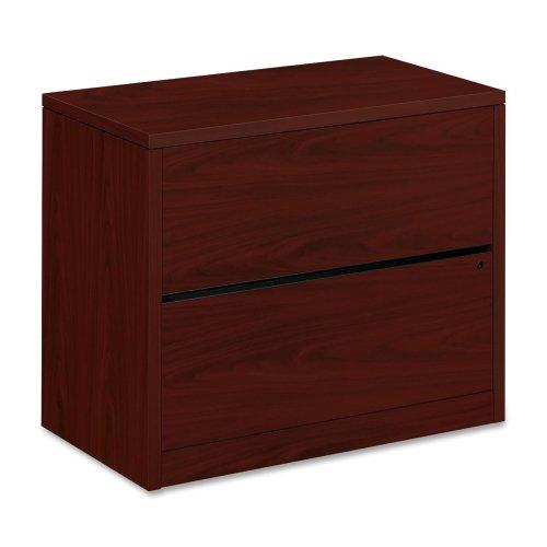HON 10500 Series Mah. Wood Laminate Lateral Files-Lateral File, 2-Drawer, 36