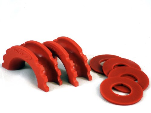 Daystar, Red D-Ring Isolator and Washers, protect your bumper and reduce rattling, KU70057RE, Made in America