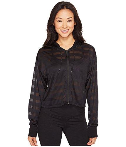 - PUMA Women's Burnout Full Zip Hoodie Cotton Black Sweatshirt