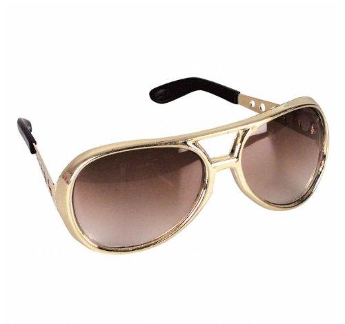 12 Gold Rock Star Costume Aviator Sunglasses (Rock Star Costumes)