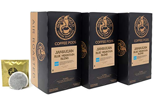 BLUE MOUNTAIN COFFEE PODS, JAMAICAN BLEND - Good As Gold Coffee Roasters - (3 Pack Special / 54 Jamaican Blue Mountain Blend Pods) ()
