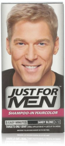 Just for Men shampooing en Couleur des cheveux, Sandy Blond 10, une application, (Pack de 4)