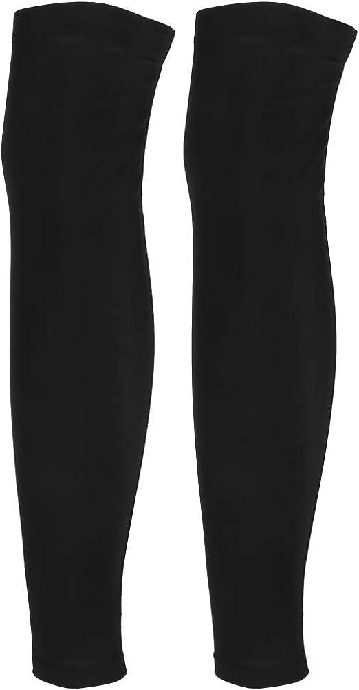 Keenso Mangas Protectoras para piernas con protección Solar, Ciclismo al Aire Libre Mangas largas Antideslizantes para piernas de compresión