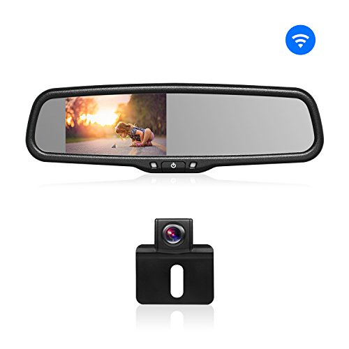 BOSCAM Wireless Backup Camera Kit Rearview Mirror Monitor and Universal