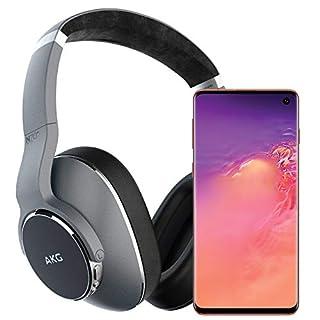 Samsung Galaxy S10 Factory Unlocked Phone with 512GB (U.S. Warranty), Flamingo Pink w/AKG N700NC Headphones