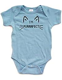 Purrrfect Cat Baby Bodysuit Short Sleeve Jumpsuit Rompers
