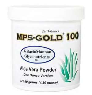 MPS-GOLD 100 Glyconutrient and Aloe Vera Supplement Loose Powder (122.40 grams) by Health Breakthroughs International