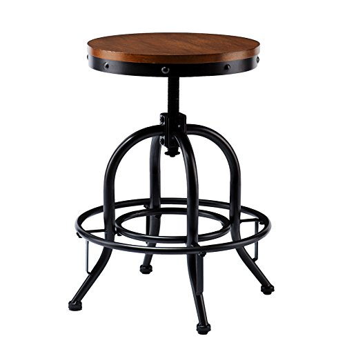 Industrial Adjustable Stool (Southern Enterprises Kitchen Bar Stool)