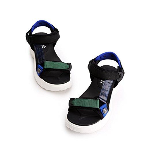 Noir Résistant de Chaussures Sangle Sandales Été Femme L'usure pour à Plateforme Talon Couleur Antidérapant qnpZORfp