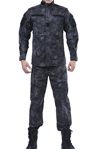 Animal Ruins Camo Tactical BDU Combat Coat Pant Uniform Sets Ripstop Camo Bdu Set Pants Shirt