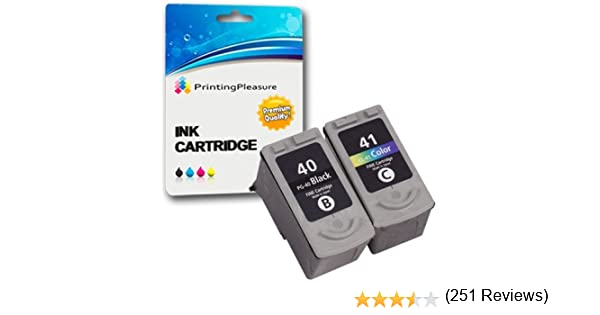 2 Cartuchos de Tinta compatibles para Canon Pixma iP1600 iP1800 iP1900 iP2200 iP2600 MP140 MP150 MP160 MP170 MP190 MP210 MP450 MP460 MX300 MX310 | Reemplazo para PG-40 (PG40) CL-41 (CL41): Amazon.es: Electrónica