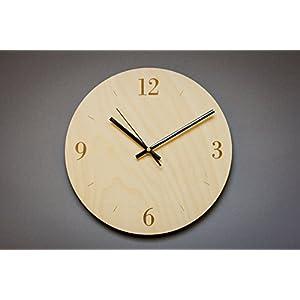 Steampunk Wall Clock, Modern Clock, Wooden Wall Clock, Living Room Decor, Big Oval, Round Clock, Office Clock, Wooden Gift, Clock Gift, Wedding Clock, Wooden Clock, Art Clock, Wood Art.