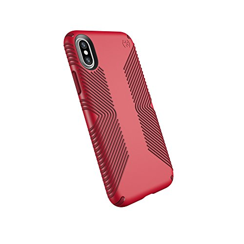 Speck Products Presidio Grip Cell Phone Case For IPhone X - MARS RED/VELVET RED