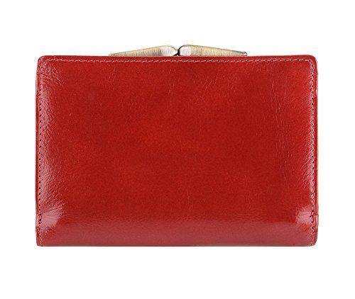 WITTCHEN portafoglio, Rosso, Dimensione: 8.5x12.5 cm - Materiale: Pelle di grano - 21-1-337-3