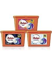 Robijn Color, Black Velvet en Stralend Wit 3-in-1 Wascapsules Pakket voor gekleurde, zwarte en witte was - 3 x 15 wasbeurten