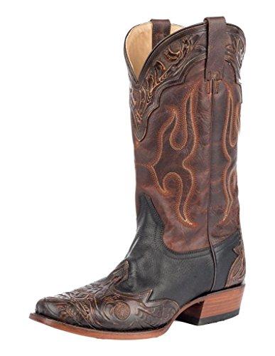 Stetson Western Boots Mens 13 Medium Square Black 12-020-8663-1620 Bl Black