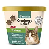 NaturVet Cranberry Relief Plus Echinacea for Cats, 60 ct Soft Chews, Made in USA